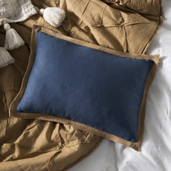Linen Jute Trim Pillow Wayfair Impressive Jute Pillow Cover With Braided Trim