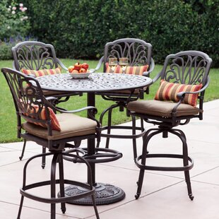 Lebanon 5 Piece Bar Height Dining Set With Cushions
