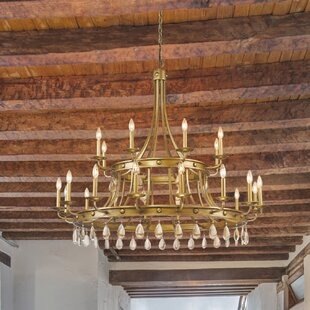 Lipscomb 24-Light Wagon Wheel Chandelier