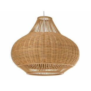 Order Wicker Pear 1-Light Globe Pendant By Kouboo