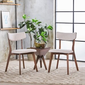 Putnam Upholstered Wood Dining Chair (Set of 2) by George Oliver