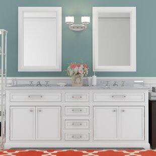 Reviews Bergin 72 Double Bathroom Vanity Set ByThree Posts