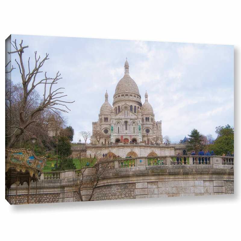 Ebern Designs Sacre Coeur Basillica Ii Photographic Print On Wrapped Canvas Wayfair