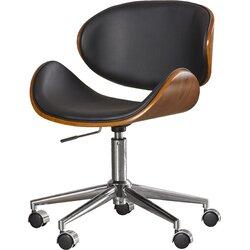sunpan modern urban unity quinn mid-back leather office chair