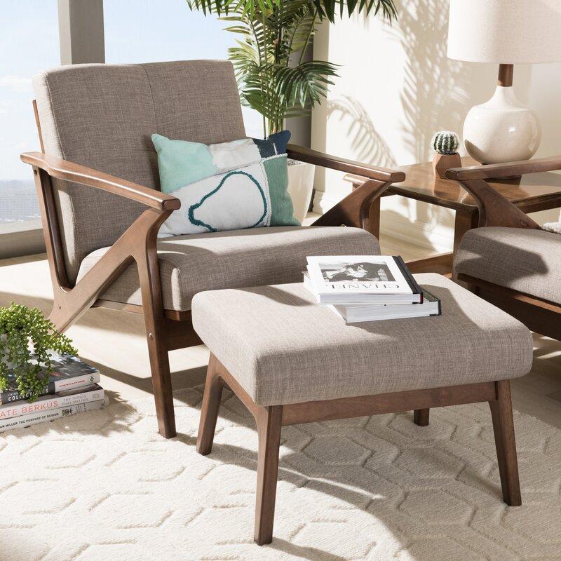 Wojtala Mid-Century Modern 2 Piece Standard Living Room Set
