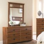 Ashland 6 Drawer Double Dresser with Mirror