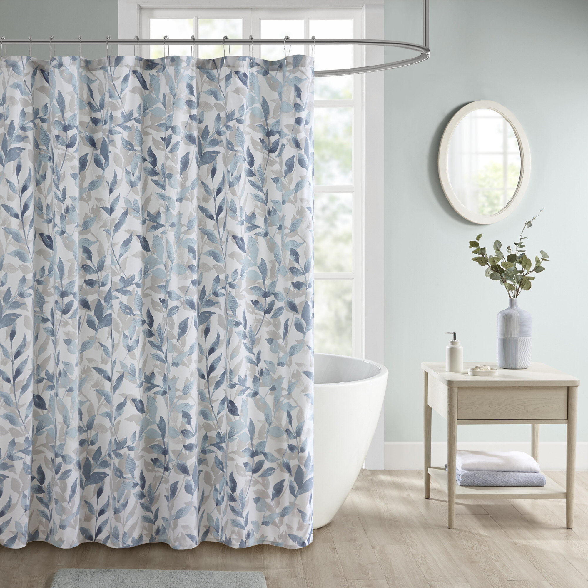 Canora Grey Roddy Floral Single Shower Curtain Reviews Wayfair