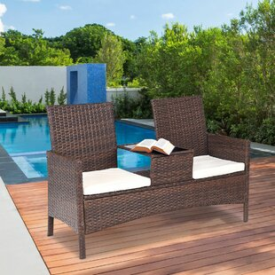 Robison Patio Rattan 3 Piece Seating Group with Cushions
