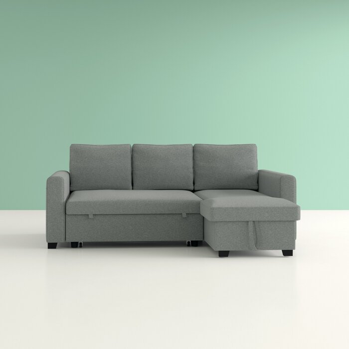 Outstanding Hendrick Pull Out Reversible Sleeper Sectional Gmtry Best Dining Table And Chair Ideas Images Gmtryco