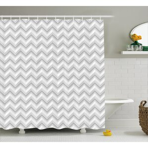 Grey And White Chevron Shower Curtain. Bergan Zig Zag Chevron Motif Shower Curtain Curtains You ll Love Wayfair  grey and white martinkeeis me 100 Grey And White Images