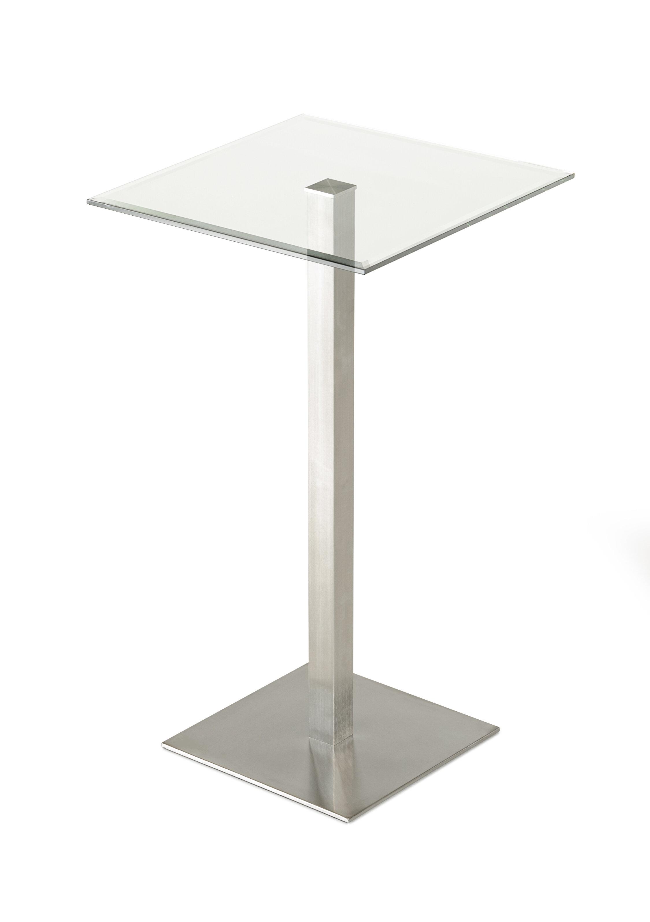 Orren Ellis Clower Square Pub Table Wayfair - Square pedestal pub table