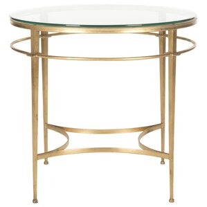 Reynaldo Round Glass End Table by Willa Arlo..