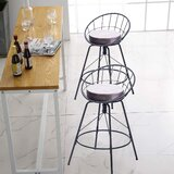 Songer Swivel Counter and Bar Stool (Set of 2) by 17 Stories