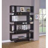 Bacilia 72.75 H x 47.25 W Geometric Bookcase by Latitude Run®
