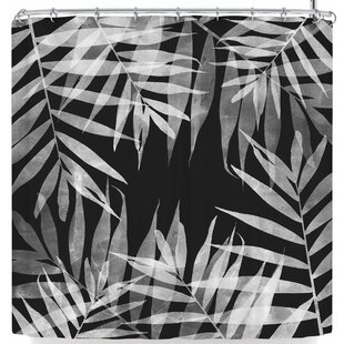 Cafelab Bw Tropicana Theme Single Shower Curtain