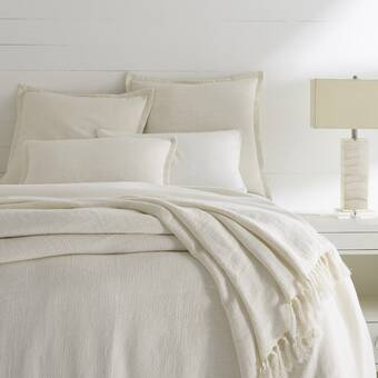 Eastern Accents Carmine Ivory Checkered Cotton Coverlet Wayfair
