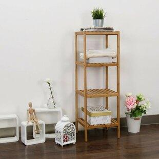 Leonaldo 13 W x 38 H x 13 D Solid Wood FreeStanding Bathroom Shelves