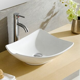 Modern Ceramic Specialty Vessel Bathroom Sink By Fine Fixtures