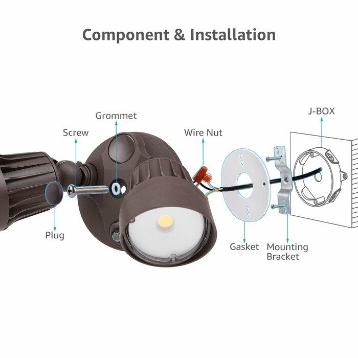 LED Dusk to Dawn Flood Light Night Falcon Led Floodlight Wiring Diagram on