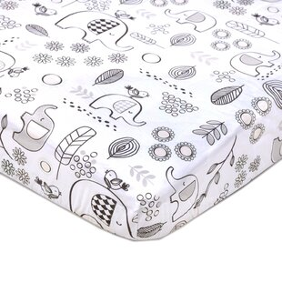 Top Kayden Crib Fitted Sheet - Elle Elephant ByLolli Living