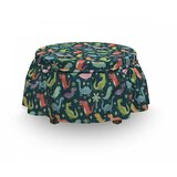 Jungle Ottoman Slipcover (Set of 2) by East Urban Home