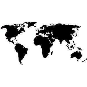 World Map Decal Wall Sticker