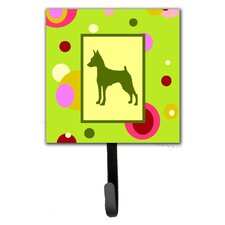Min Pin Leash Holder and Wall Hook by Caroline's Treasures