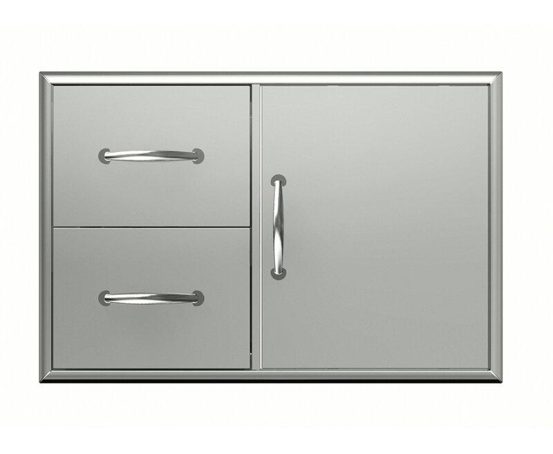 Broilchef Premium 30 09 Stainless Steel Drop In Door Drawer Combo Wayfair