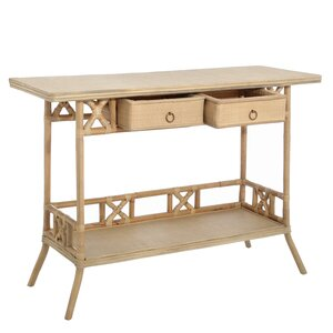 Rattan Console Table With 2 Drawers