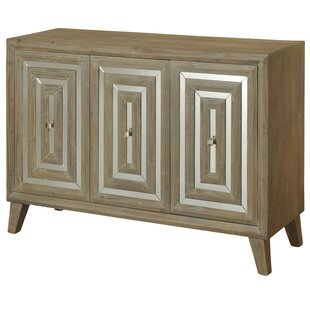 Massengale Mirror Credenza 3 Door Accent Cabinet by Union Rustic