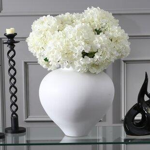 White Decorative Ceramic Table Vase