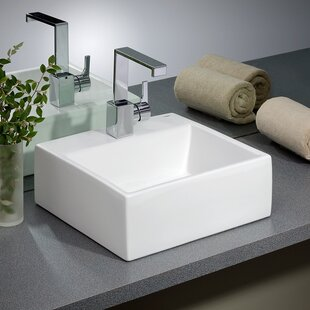 Reviews Rio Vitreous China Square Vessel Bathroom Sink By Cheviot Products