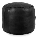 Peachy Black Leather Ottomans Poufs Youll Love In 2019 Wayfair Andrewgaddart Wooden Chair Designs For Living Room Andrewgaddartcom