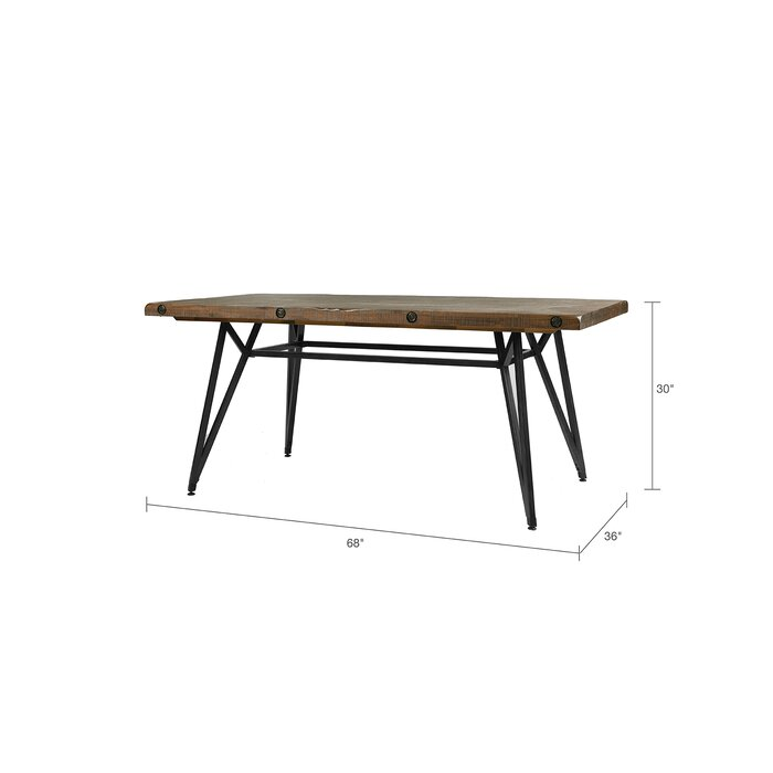 Cesare Gathering Counter Height Solid Wood Dining Table