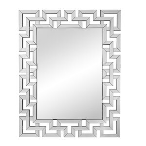Rectangle Ornate Geometric Wall Mirror