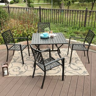 Stinchcomb Outdoor 5 Piece Dining Set