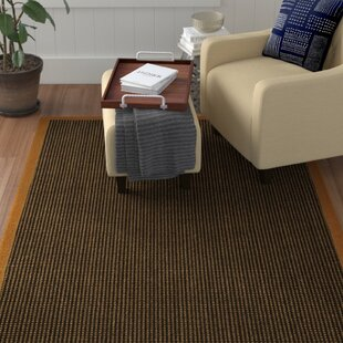 Hedlund Hand Woven Brown Area Rug by Winston Porter