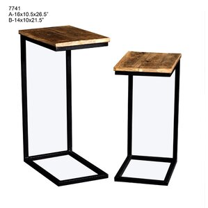 Gracie Oaks Yong 2 Piece Nesting Tables