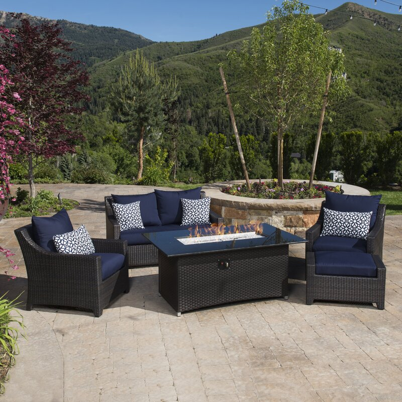 Northridge 5 Piece Fire Pit Set With Cushion