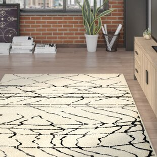 Affordable Price Rockford Cream/Black Area Rug By Trent Austin Design