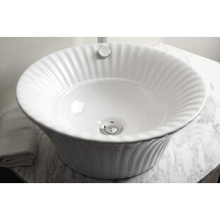 Look for Ceramic Circular Vessel Bathroom Sink with Overflow By Royal Purple Bath Kitchen