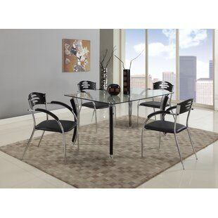 Keanna 5 Piece Solid Wood Dining Set