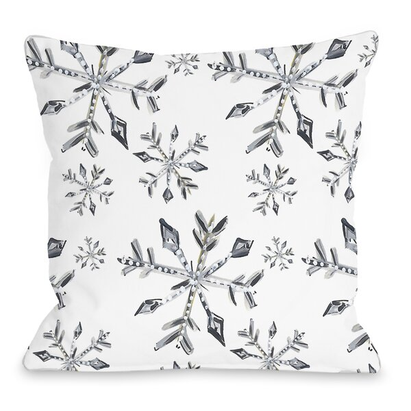 Silver Snowflake Pillow Wayfair