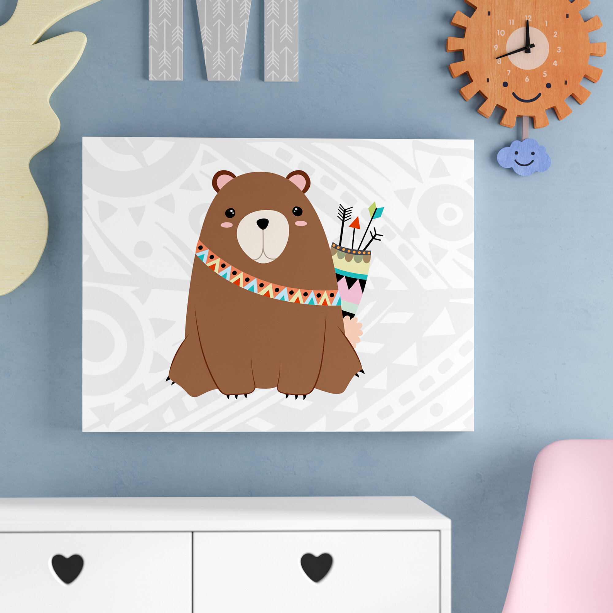 Viv Rae Aida Tribal Bear I Canvas Art Wayfair