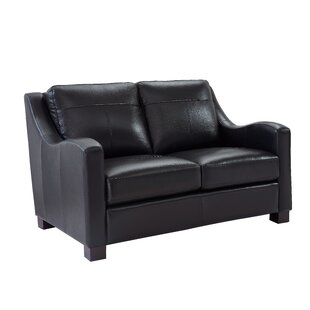 Arlford Leather Loveseat by Latitude Run Great Reviews