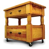 Ermengarda Kitchen Island with Top by Winston Porter