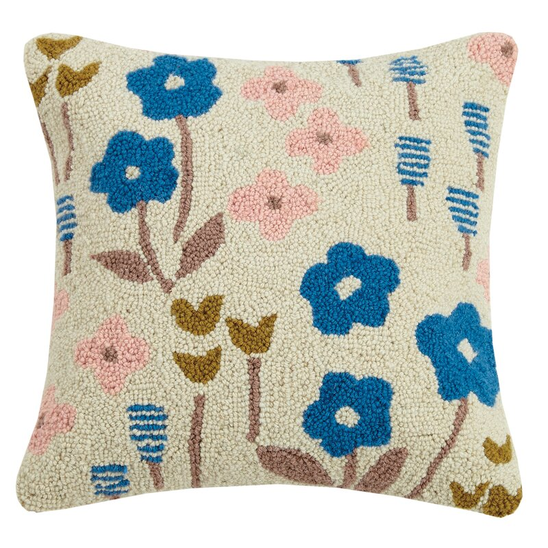 Harriet Bee Beekman Place Meadow Floral Wool Throw Pillow Wayfair Beauteous Beekman Home Decorative Pillow