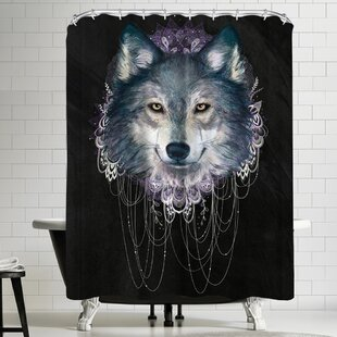 Laura Graves Wolf Single Shower Curtain