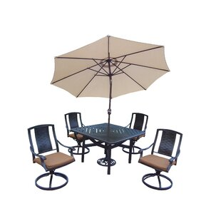 Vanguard 7 Piece Dining Set with Cushions