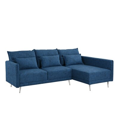 Turn on the Brights Lyndon Sectional Upholstery Color: Dark Blue